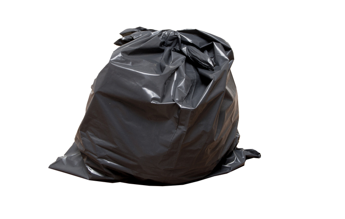 image of full garbage bag