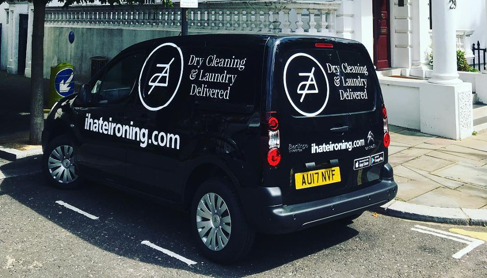 New ihateironing delivery van