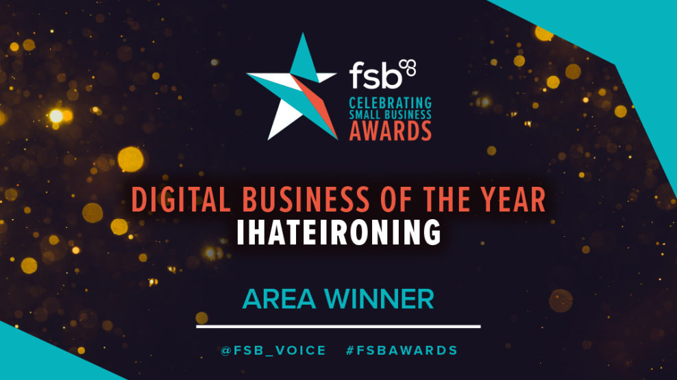 ihateironing Take Home Accolade for London Region at FSB Awards